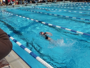 Racing for home in the IM...