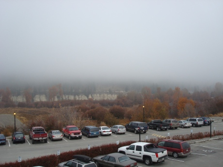 The foggy view from my 3rd floor room...